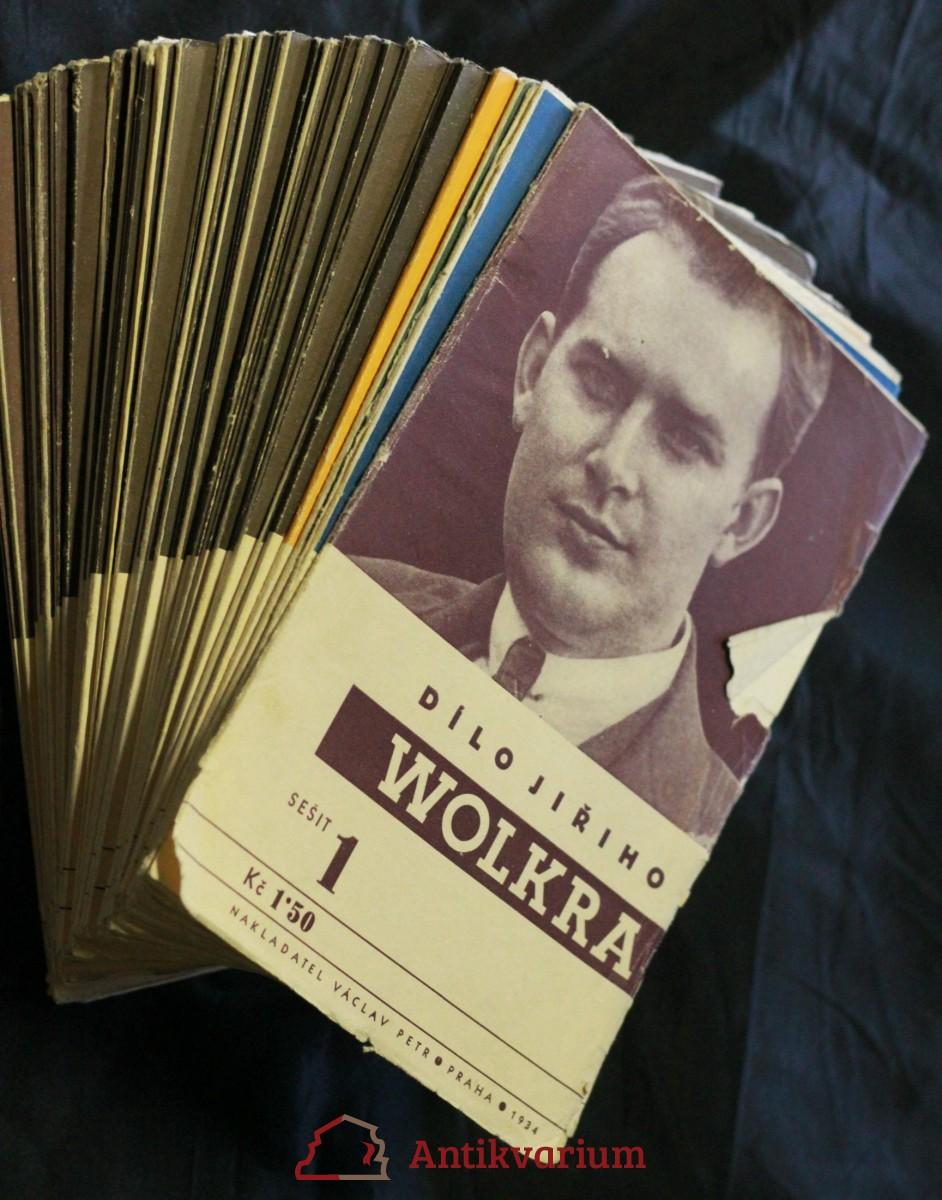 antikvární kniha Dílo Jiřího Wolkra 1.-32. díl, 1934