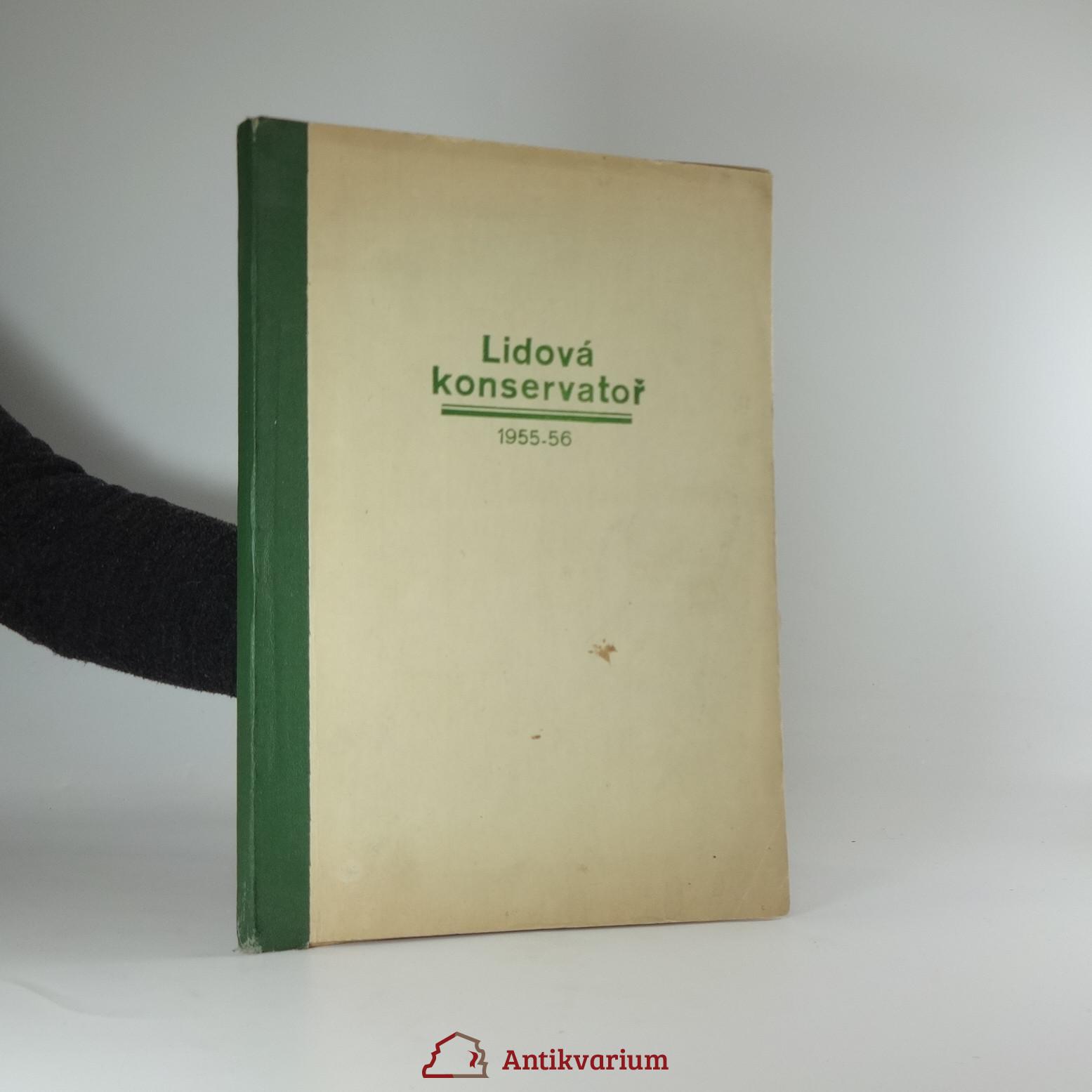 antikvární kniha Lidová konservatoř (1955 - 1956), 1956