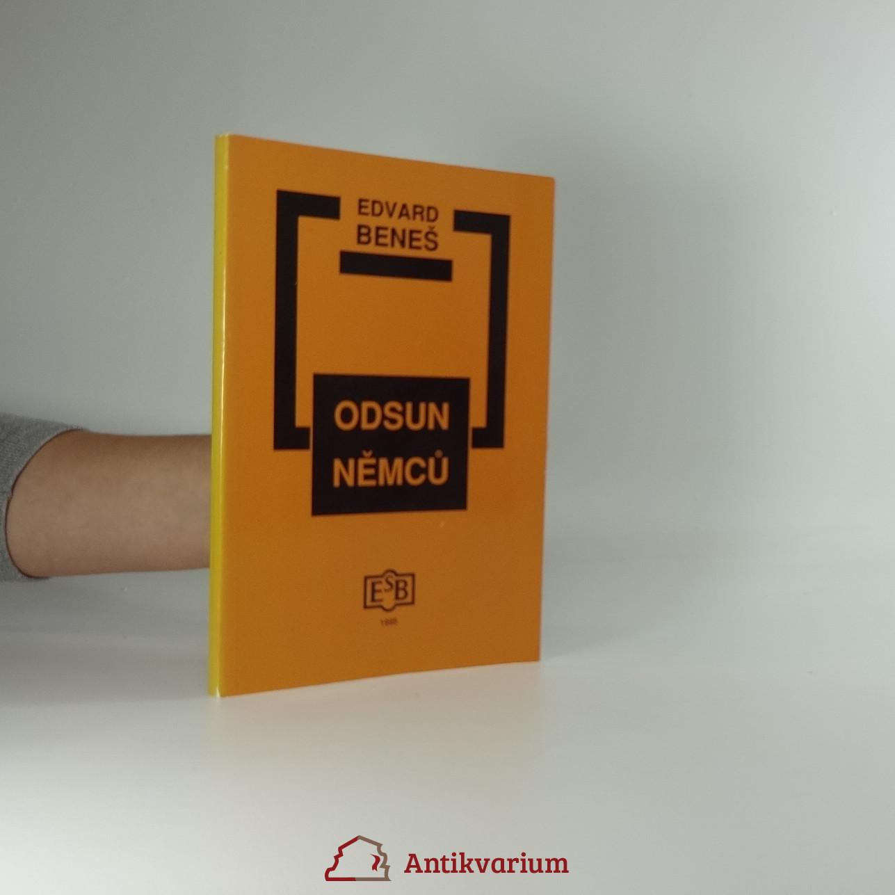 antikvární kniha Odsun Němců, 1995