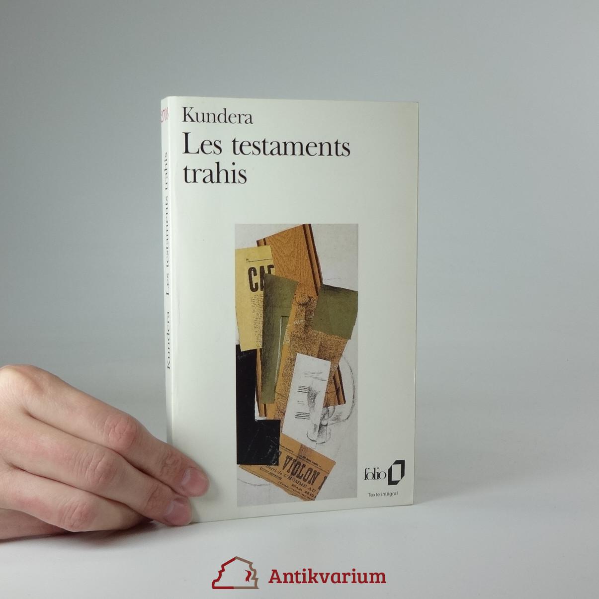 antikvární kniha Les testaments trahis, 1995