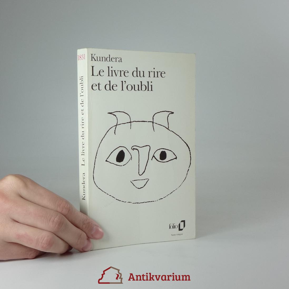 antikvární kniha Le livre du rire et de l'oubli, 1997