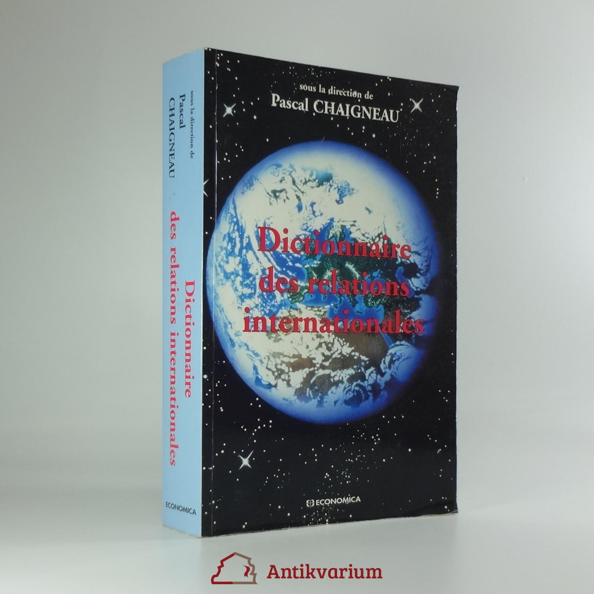 antikvární kniha Dictionaire des relations internationales, 1998