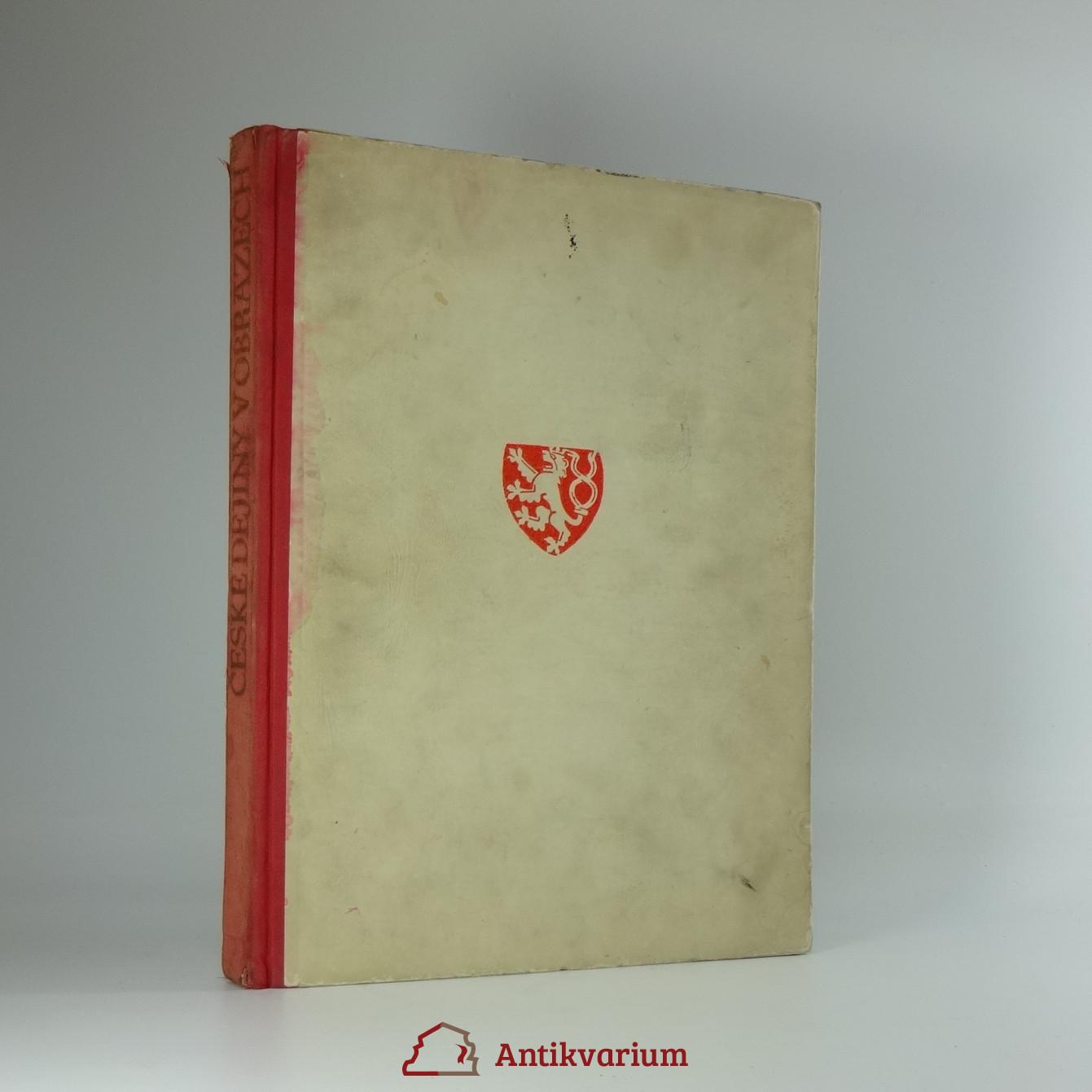 antikvární kniha České dějiny v obrazech : vývoj historického námětu ve výtvarném umění, 1948