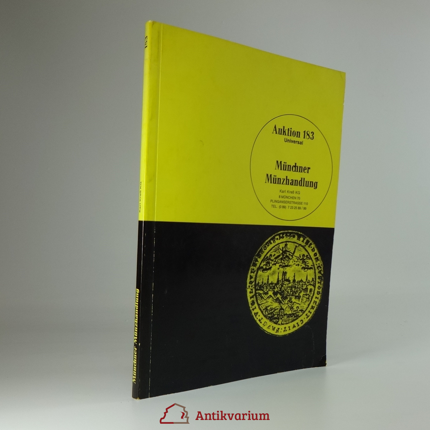 antikvární kniha  Münchner Münzhandlung, Auktion 183, 1982