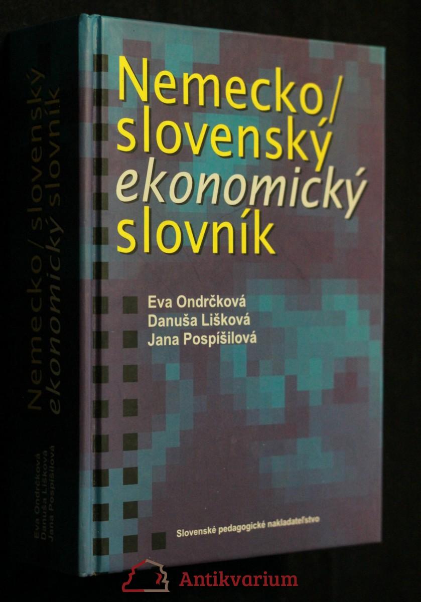 antikvární kniha Nemecko/slovenský ekonomický slovník, 2000