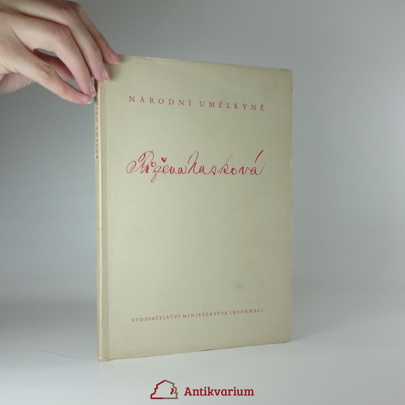 antikvární kniha Národní umělkyně Růžena Nasková, 1948