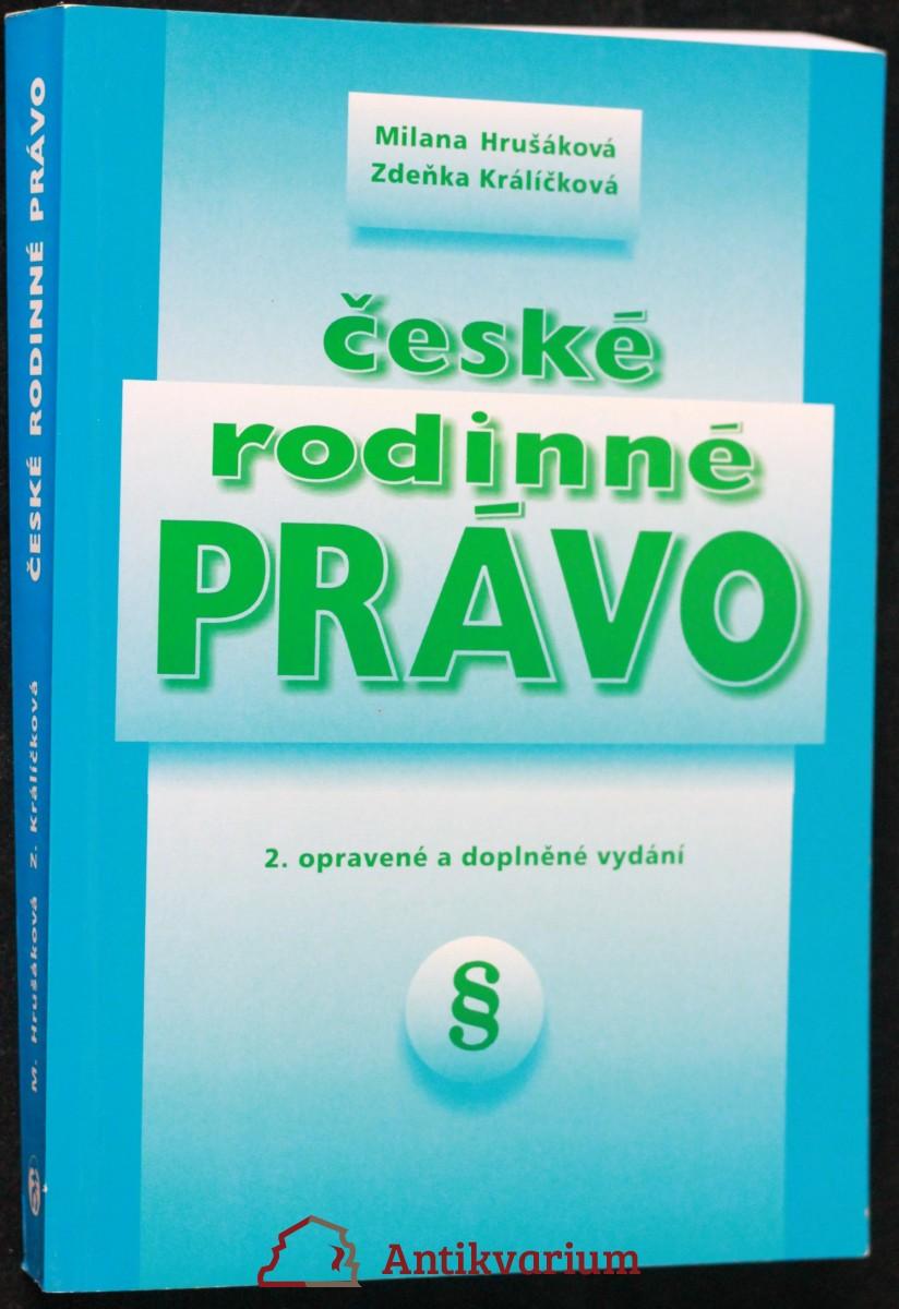 antikvární kniha České rodinné právo, 1998