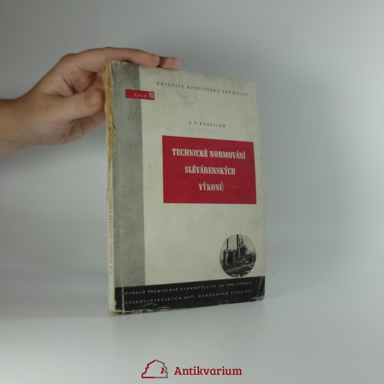 antikvární kniha Technické normování slévárenských výkonů, 1951