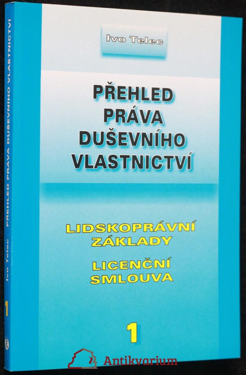antikvární kniha Přehled práva duševního vlastnictví 1, 2002