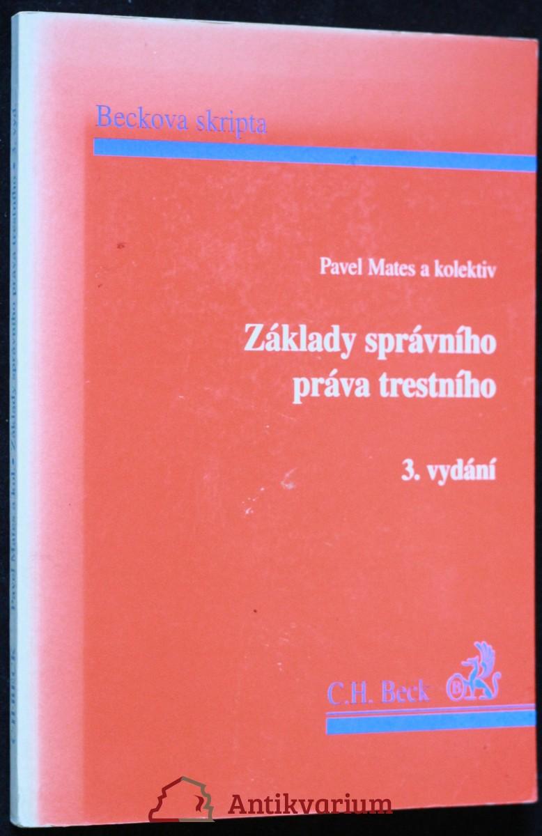 antikvární kniha základy správního práva trestního, 1995