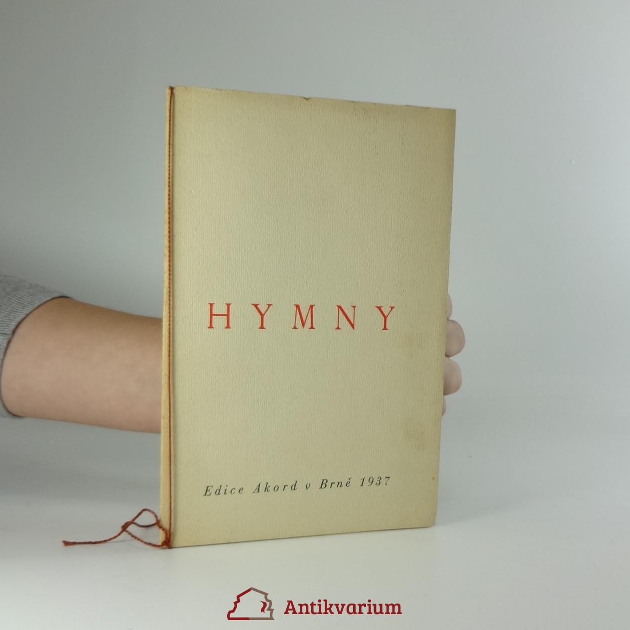 antikvární kniha Hymny, 1937