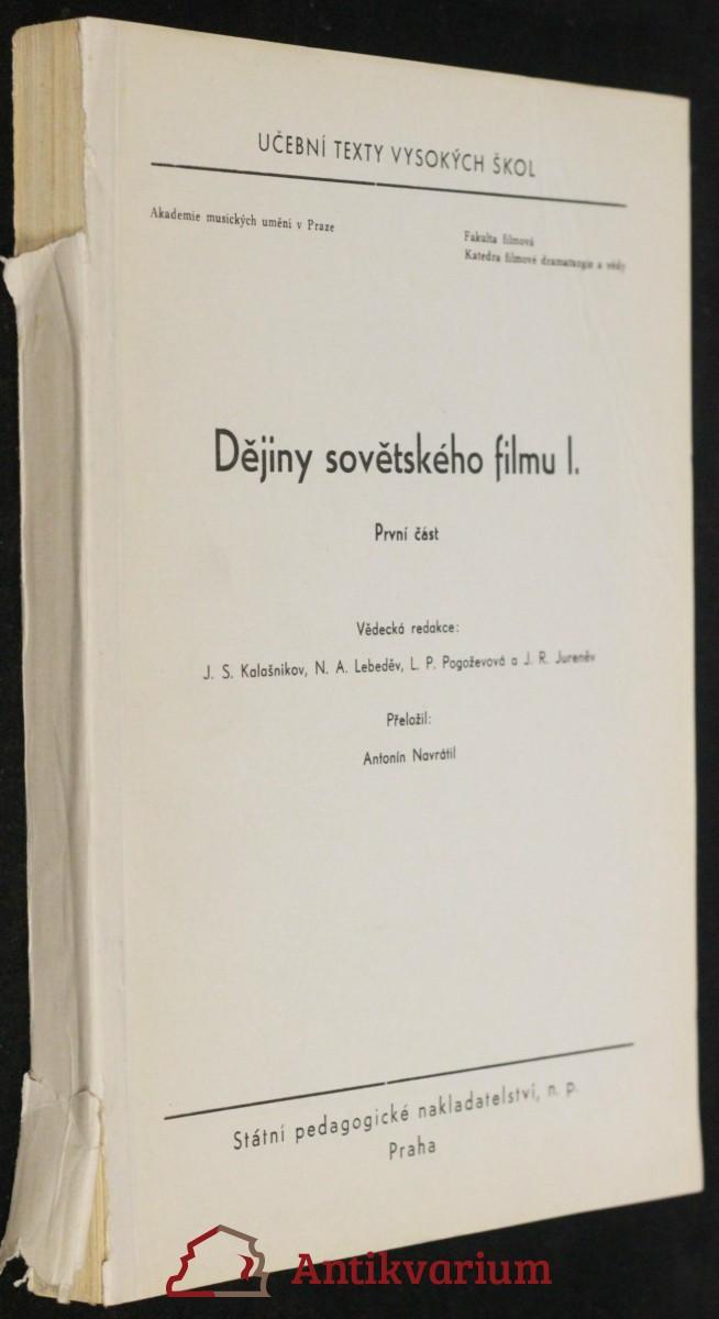 antikvární kniha Dějiny sovětského filmu 1. (1. a 2. část), 1959