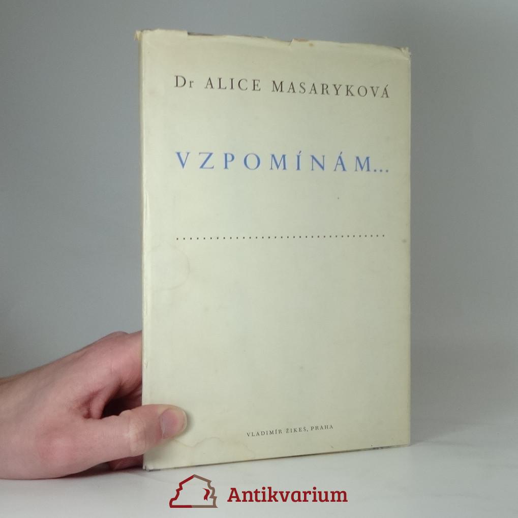 antikvární kniha Vzpomínám..., 1948