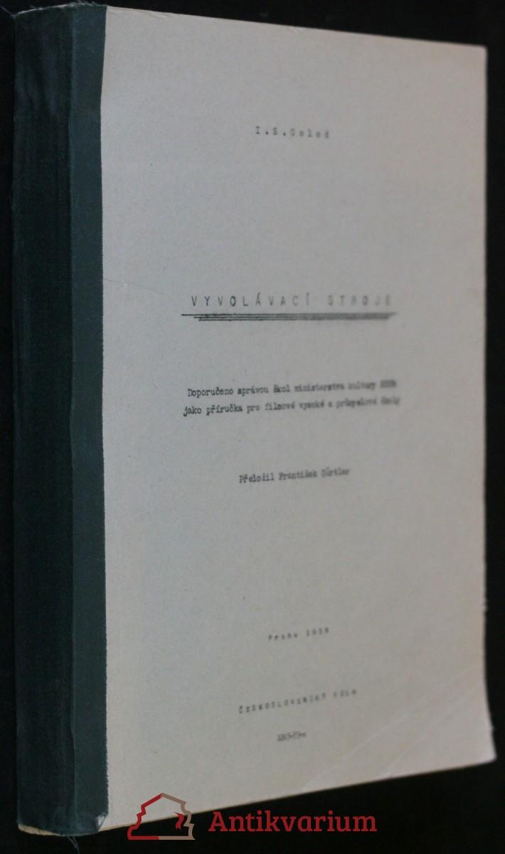 antikvární kniha Vyvolávací stroje , 1959