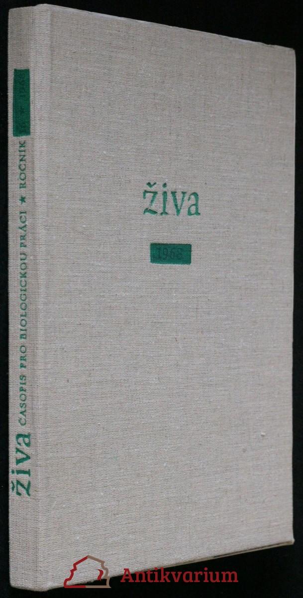 antikvární kniha Živa - časopis pro biologickou práci r.4, č. 1 - 6, 1956