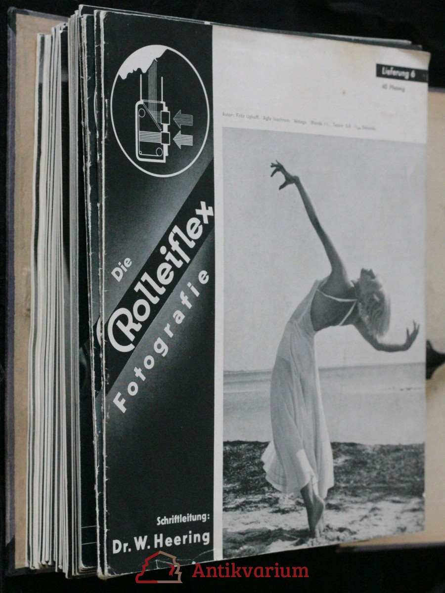 antikvární kniha Die Rolleiflex fotografie 6 - 12; Die fotografie mit Roleiflex und Rolleicord 13 - 52, 1934 - 1942