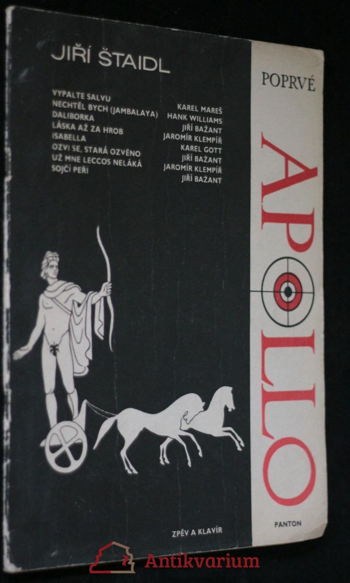 antikvární kniha Poprvé Apolio, 1965