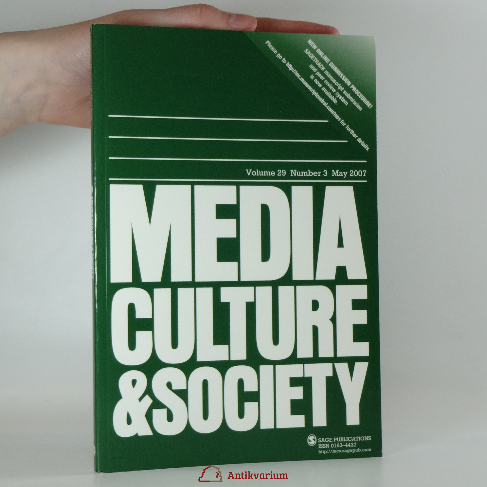 antikvární kniha Media culture and society volume 29, number 3, May 2007, 2007