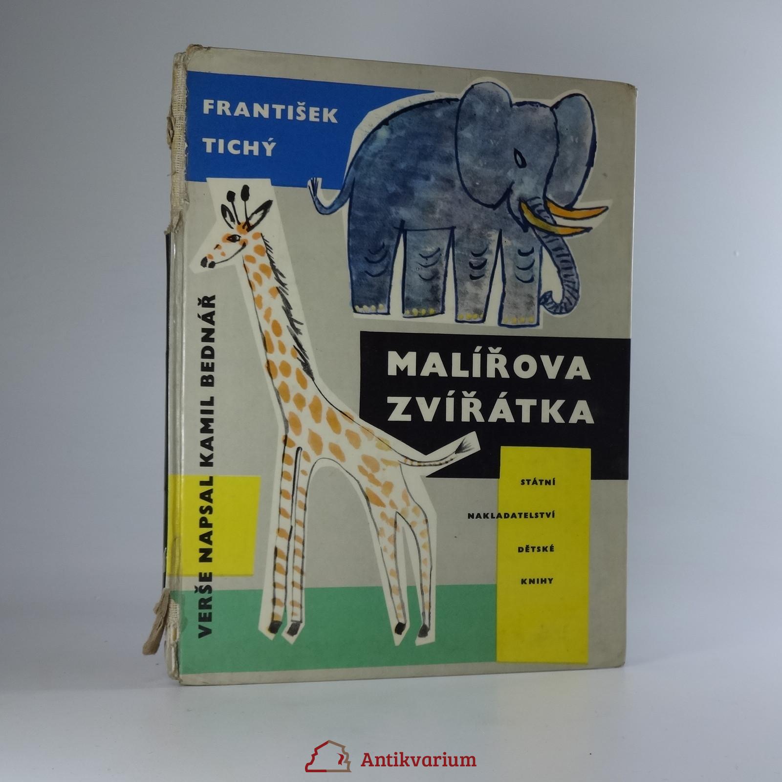 antikvární kniha Malířova zvířátka, 1961
