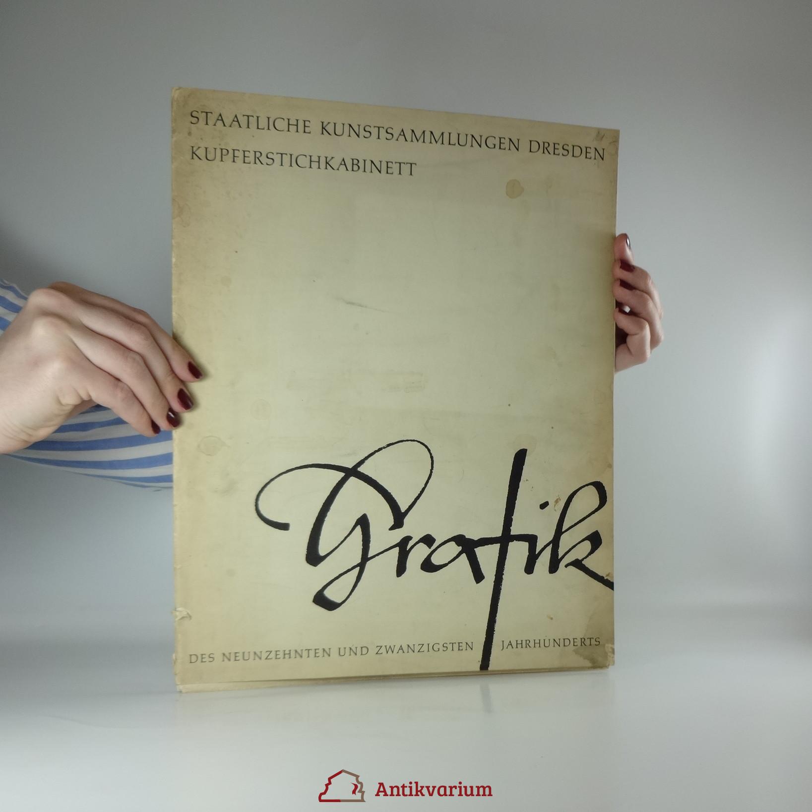 antikvární kniha Grafik. Staatliche kunstsammlungen Dresden Kupferstichkabinett, 1959
