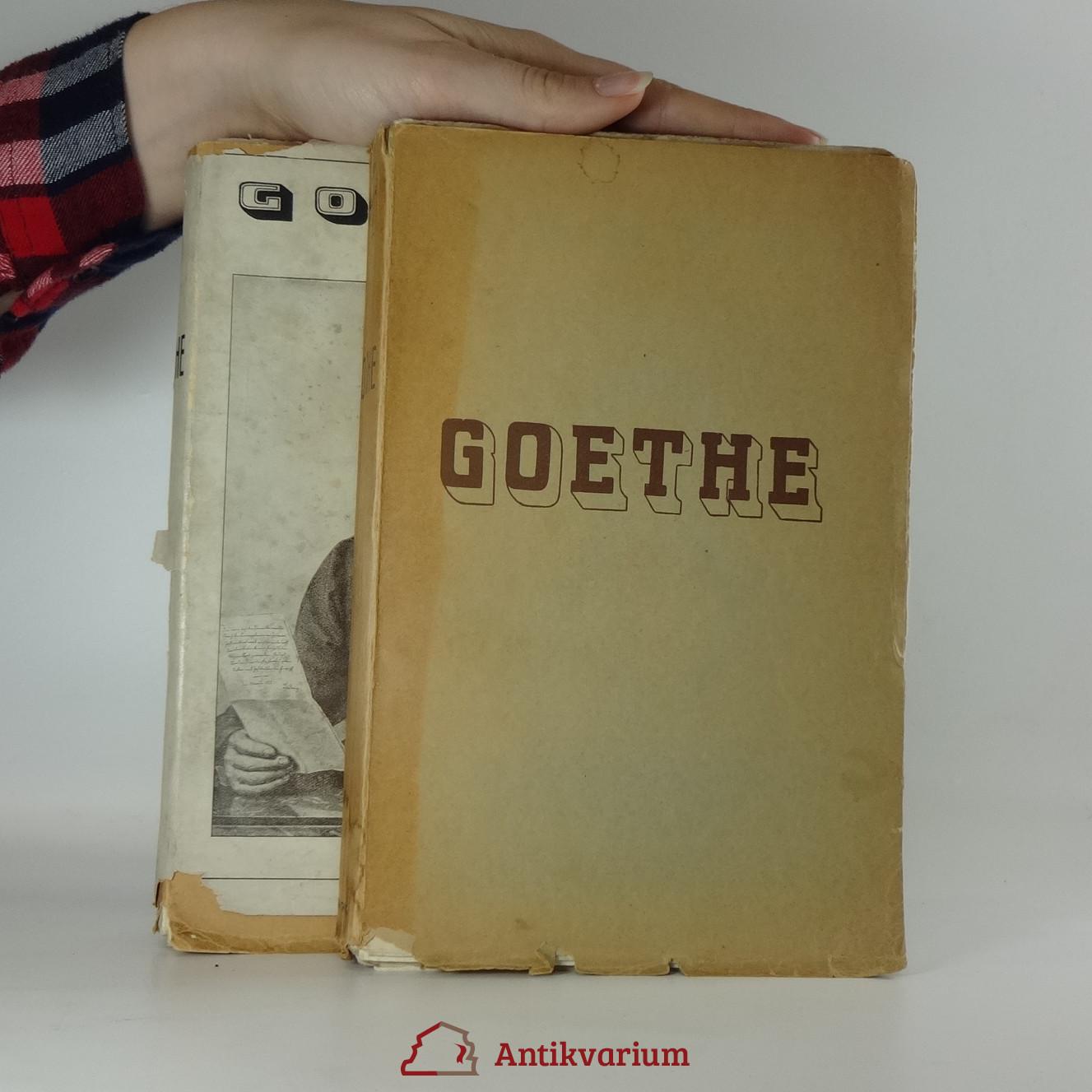 antikvární kniha Goethe. 1.-2. díl. , 1932