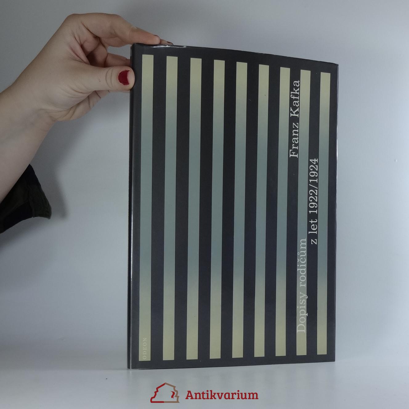 antikvární kniha Dopisy rodičům z let 1922-1924, 1990