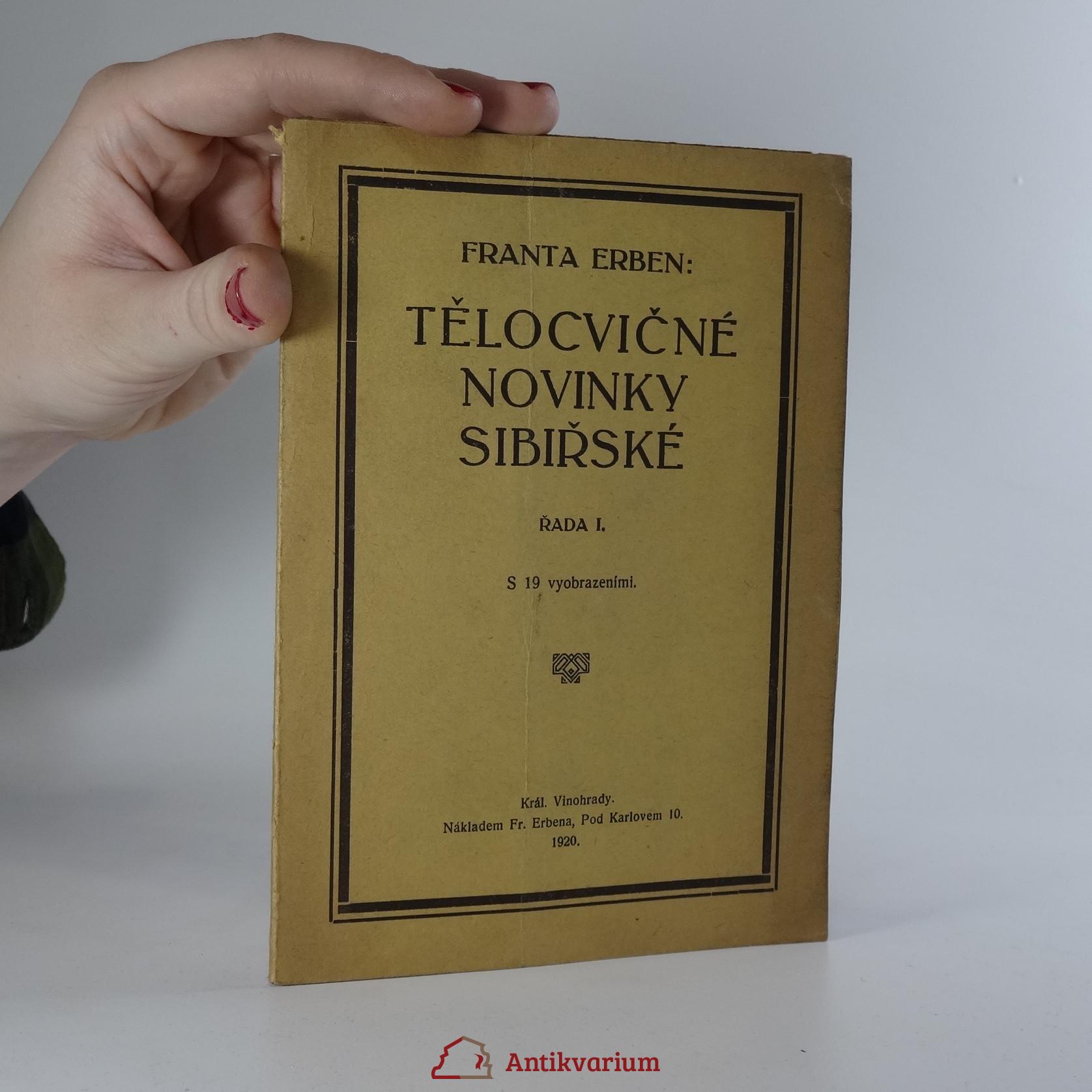antikvární kniha Tělocvičné novinky sibiřské. Řada I., 1920