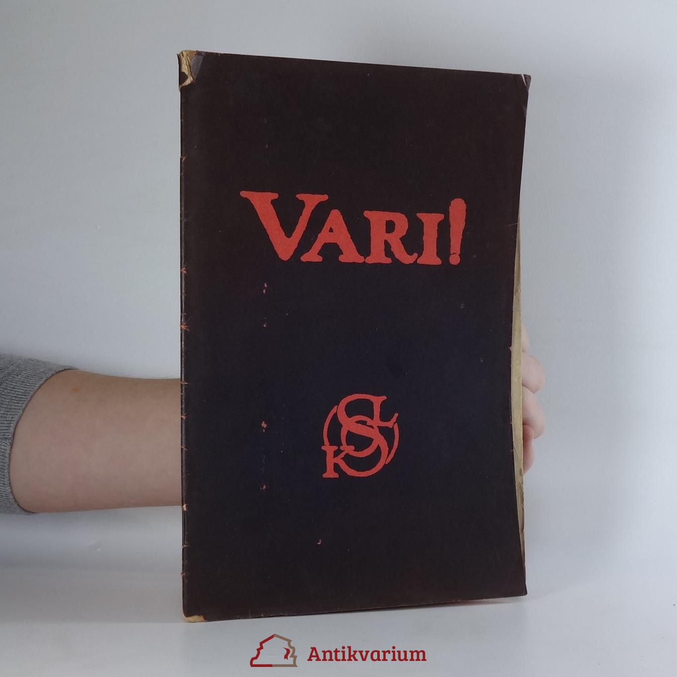 antikvární kniha Vari! : sokolská odveta, 1913