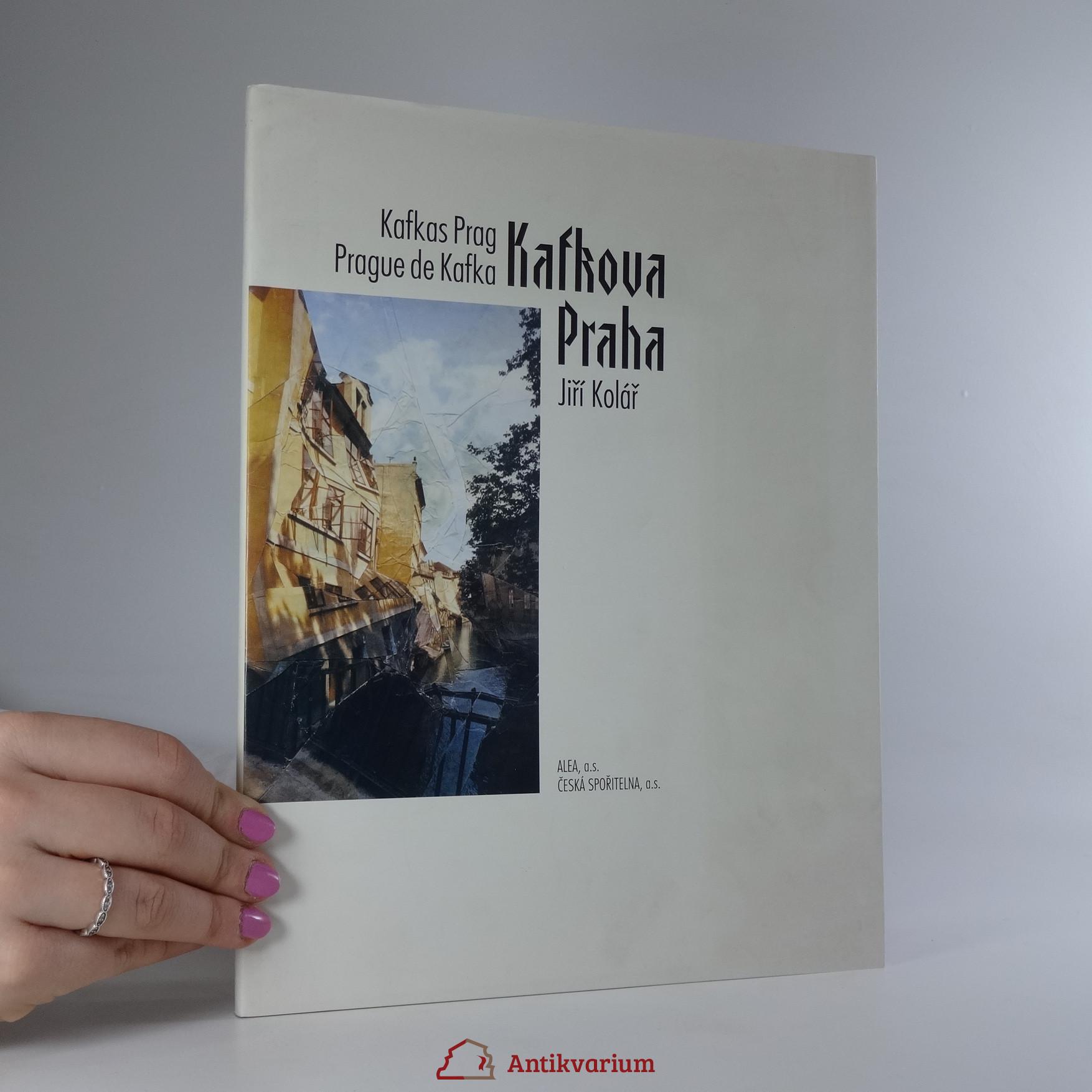 antikvární kniha Kafkova Praha. Kafkas Prag. Prague de Kafka., 1994