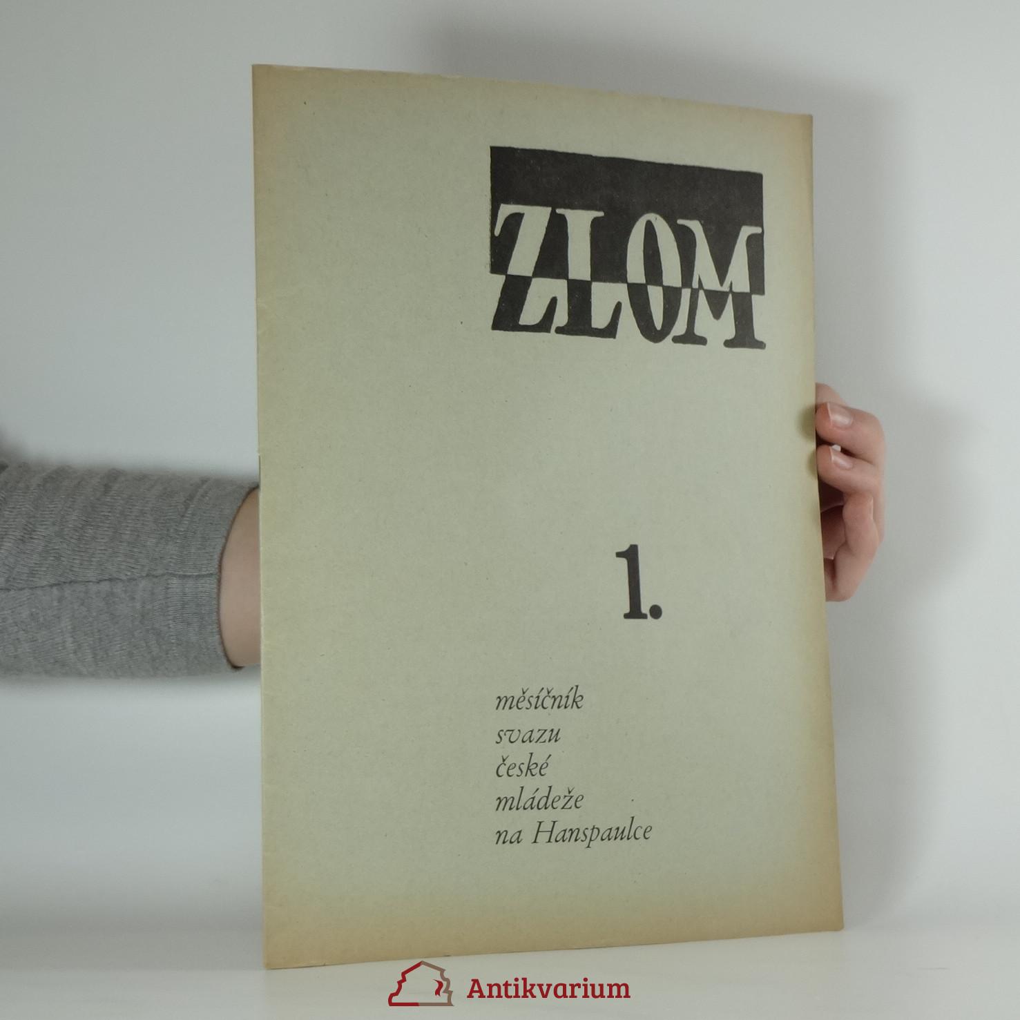 antikvární kniha Zlom. číslo 1. ročník VI./I., 1945