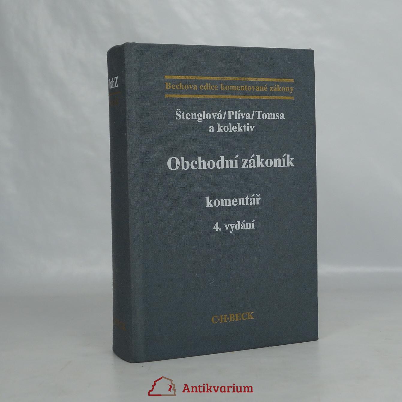 antikvární kniha Obchodní zákoník : komentář, 1996