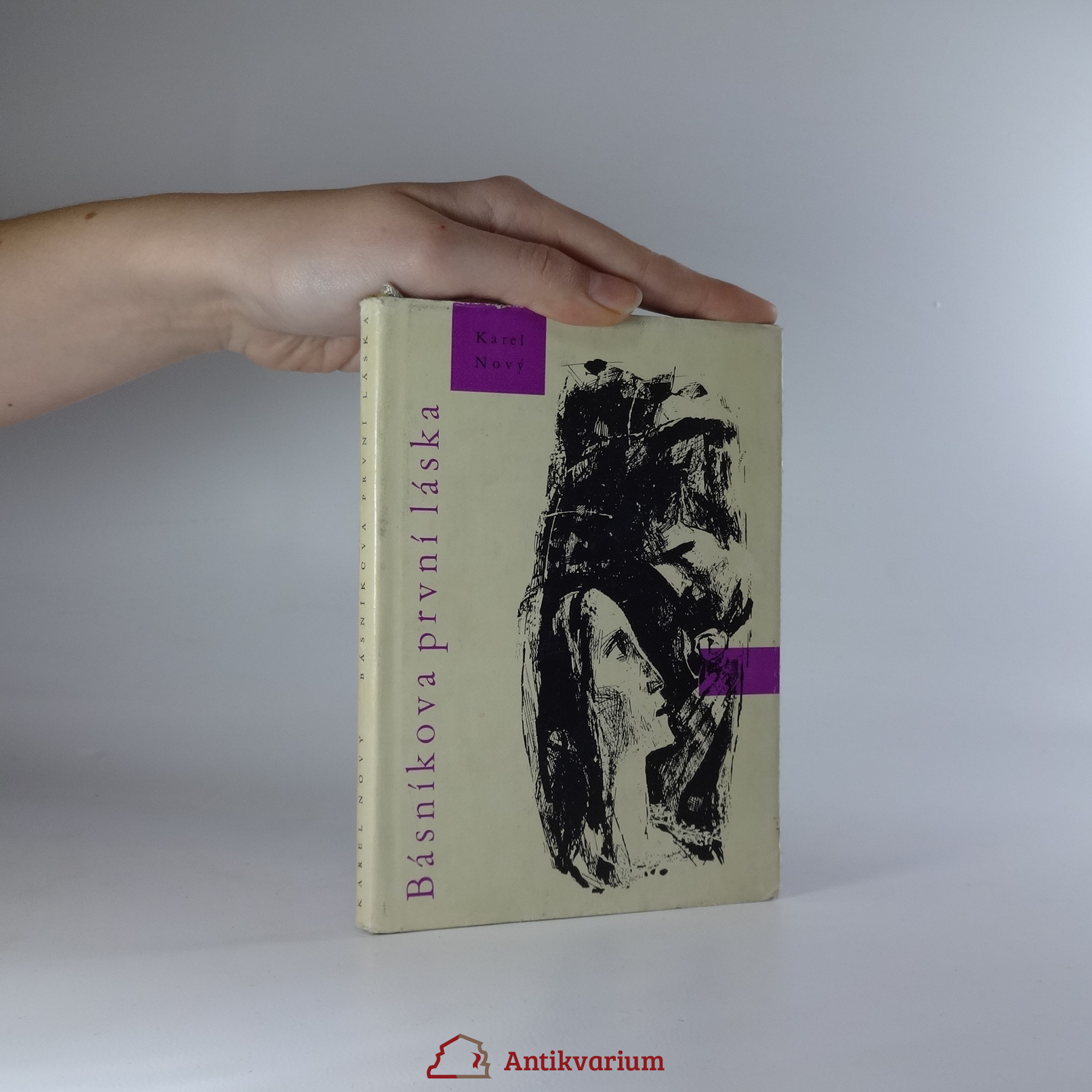 antikvární kniha Básníkova první láska, 1962