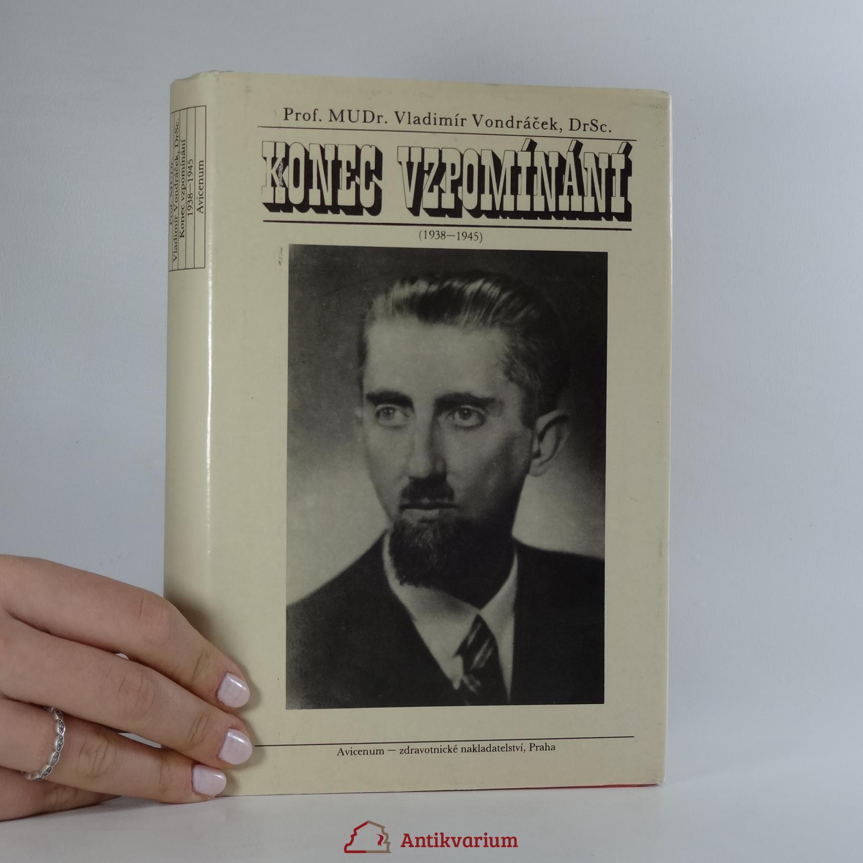 antikvární kniha Konec vzpomínání 1938-1945, 1988