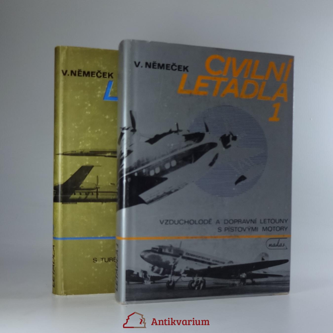 antikvární kniha Civilní letadla. 2 svazky, 1981