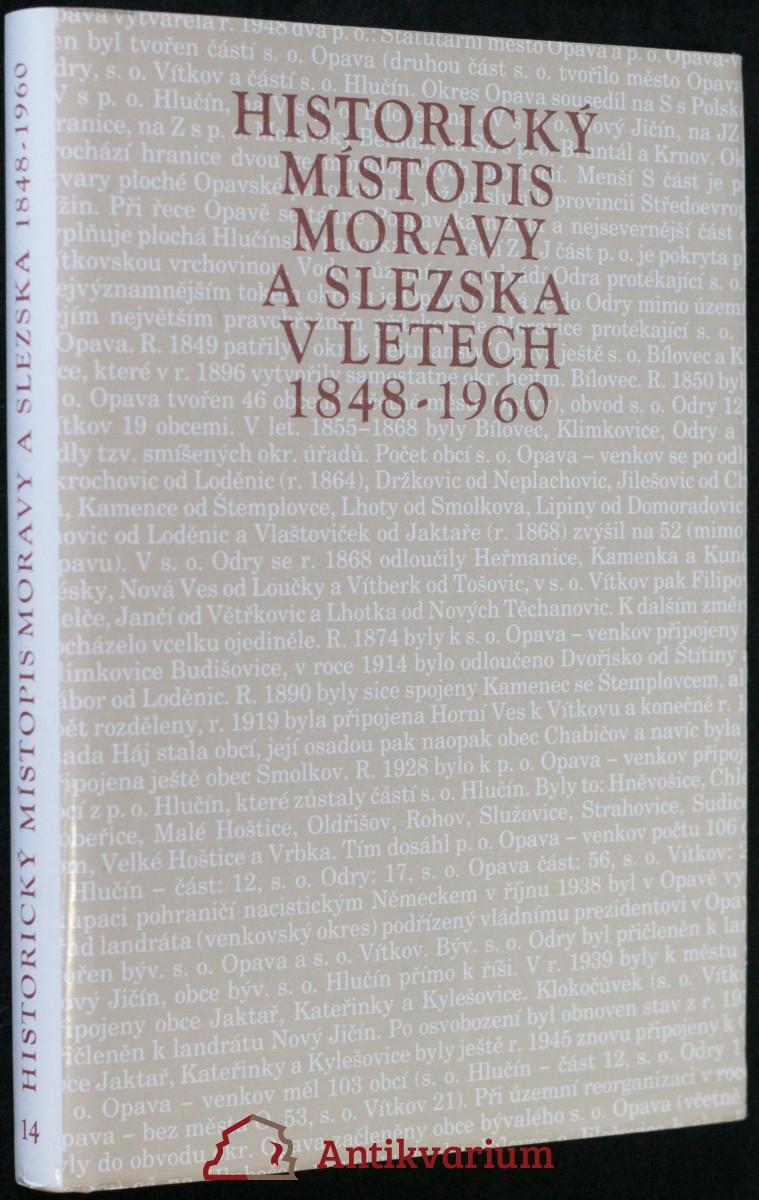 antikvární kniha Historický místopis Moravy a Slezska v letech 1848- 1960, svazek 12., 1990