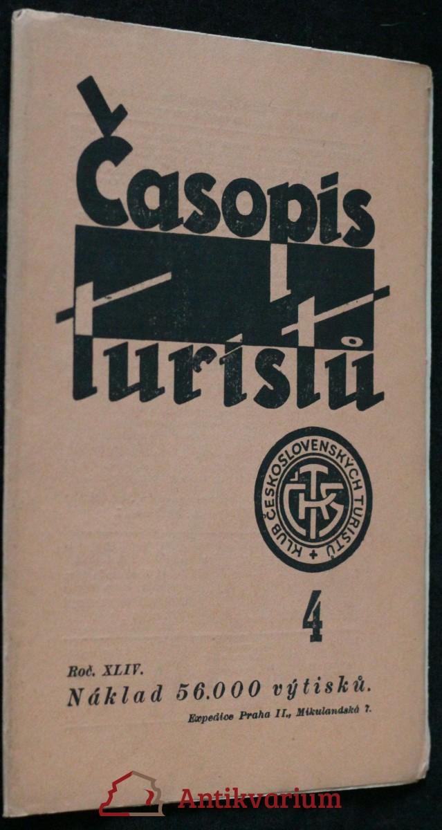 antikvární kniha Časopis turistů r. XLIV. č. 4, 1932