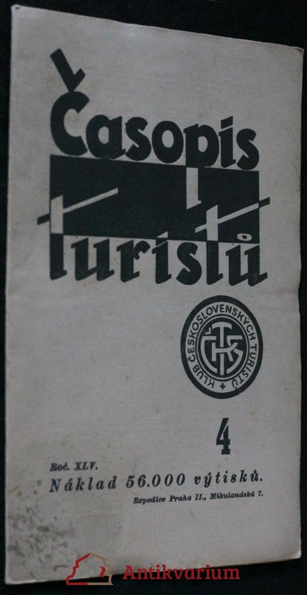 antikvární kniha Časopis turistů r. XLV. č.4.., 1933