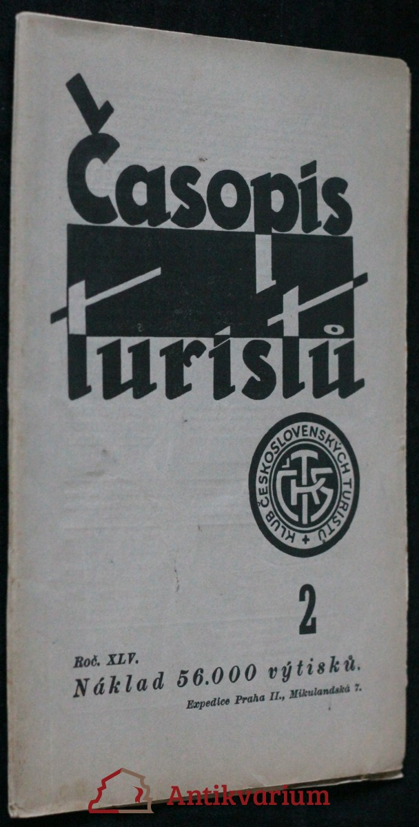 antikvární kniha Časopis turistů r. XLV. č.2., 1933