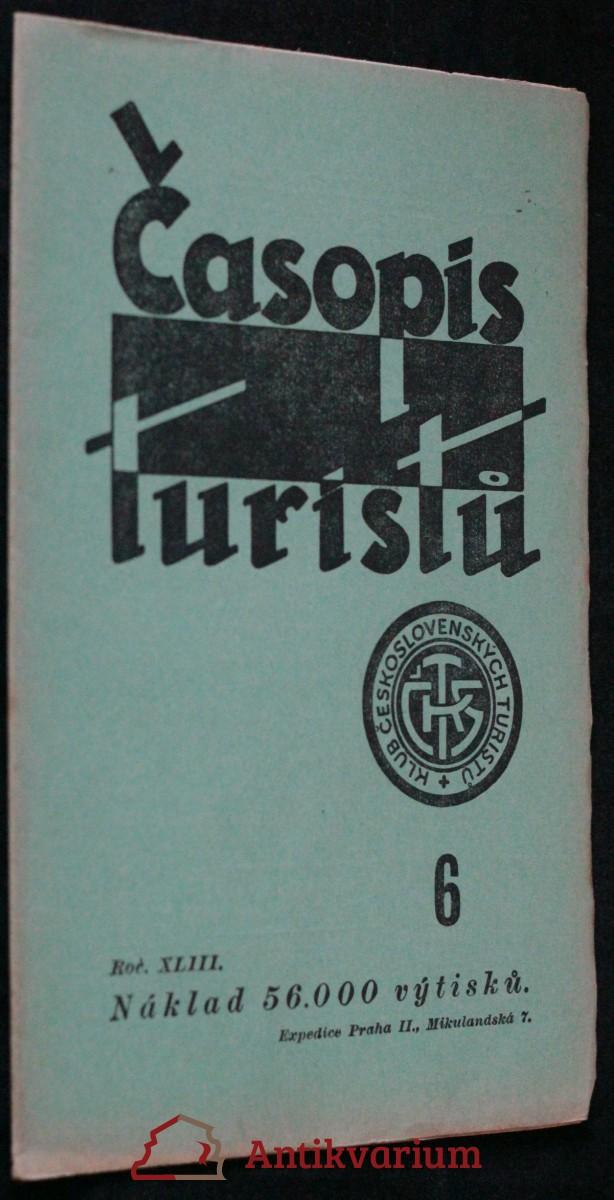 antikvární kniha Časopis turistů r. XLIII. č. 6., 1931