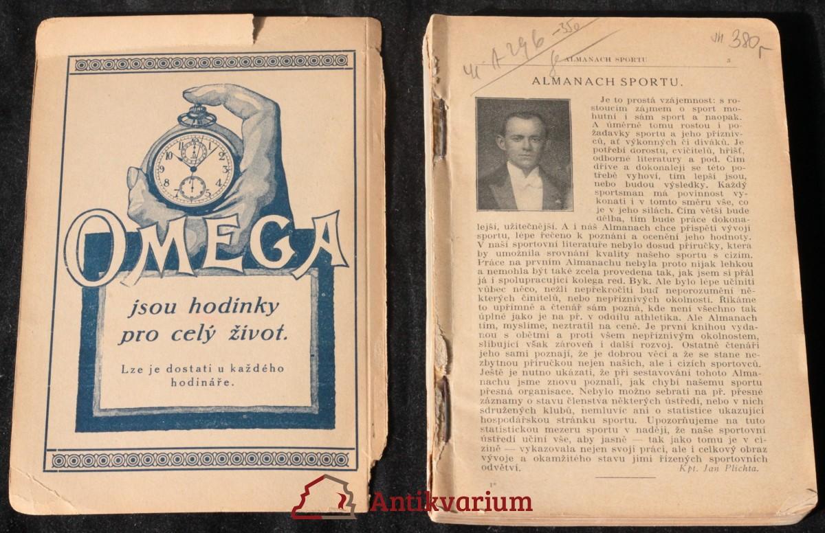 antikvární kniha Almanach sportu, neuveden