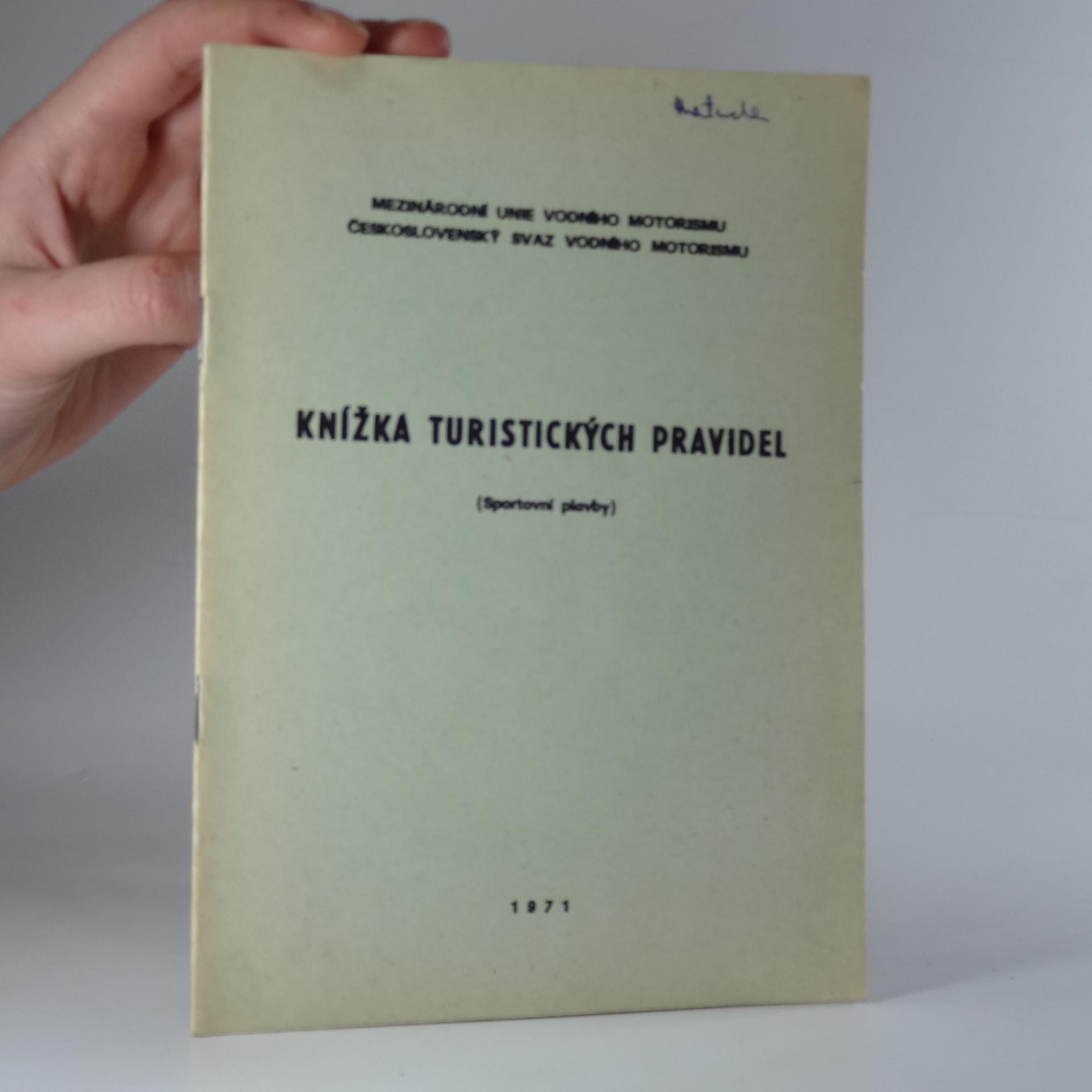 antikvární kniha Knížka turistických pravidel. Sportovní plavby., 1971