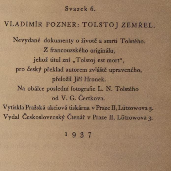 97c84cd268 Tolstoj zemřel. Nevydané dokumenty o životě a sm... Antikvariát Praha