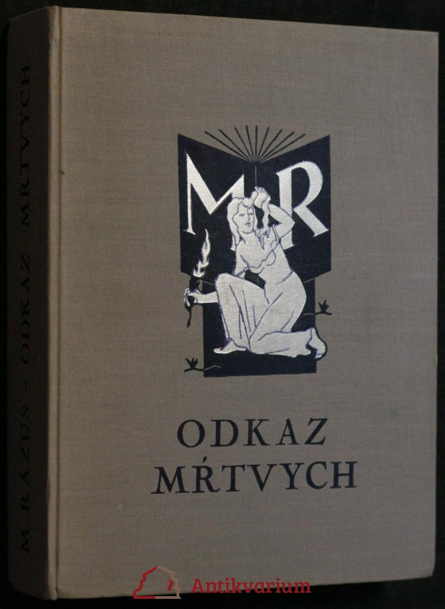 antikvární kniha Odkaz mŕtvych : román, 1936