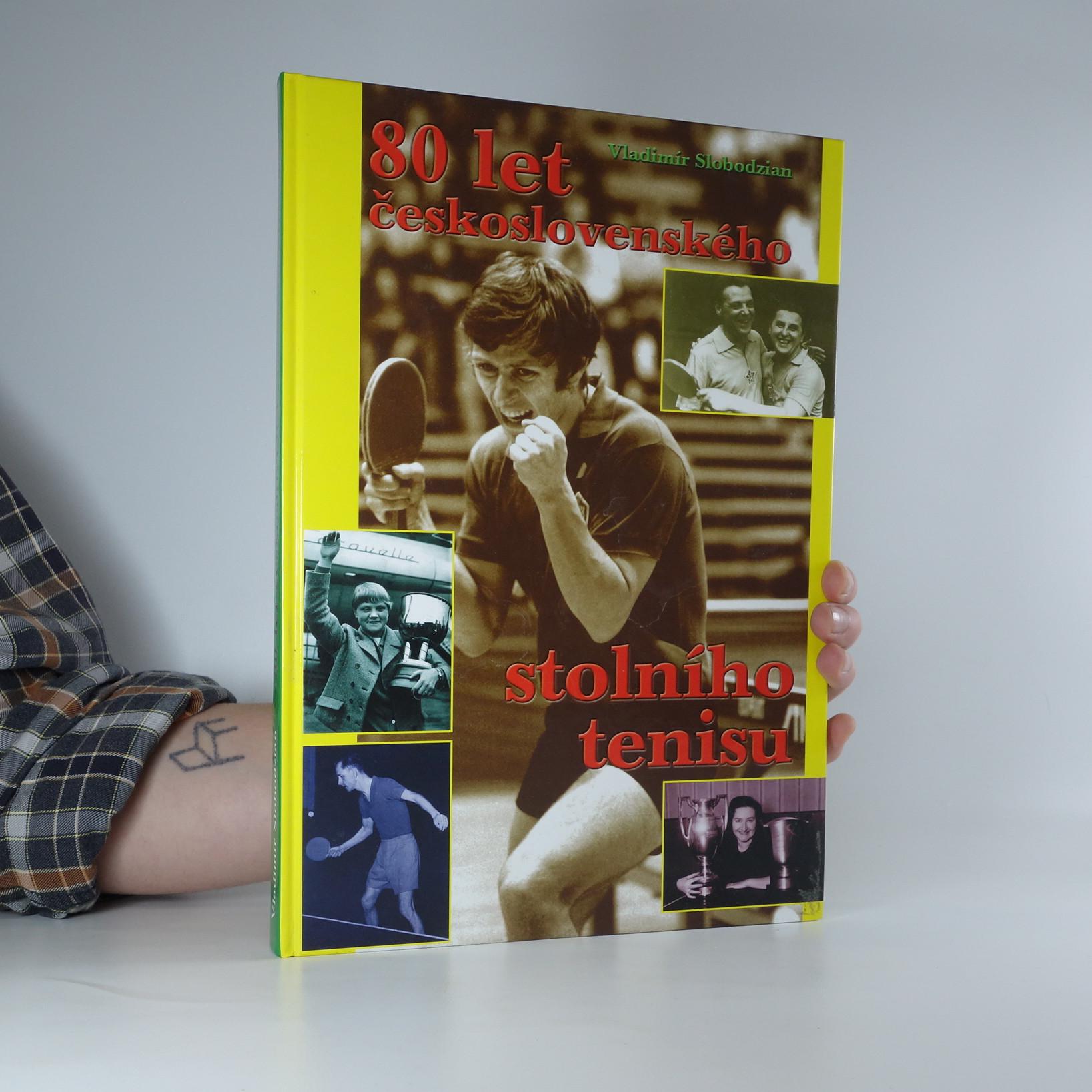 antikvární kniha 80 let československého stolního tenisu, 2005