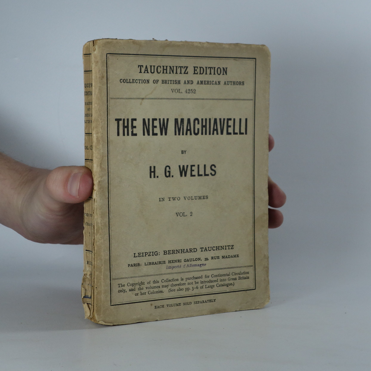 antikvární kniha The new machiavelli. Vol. 2, 1911