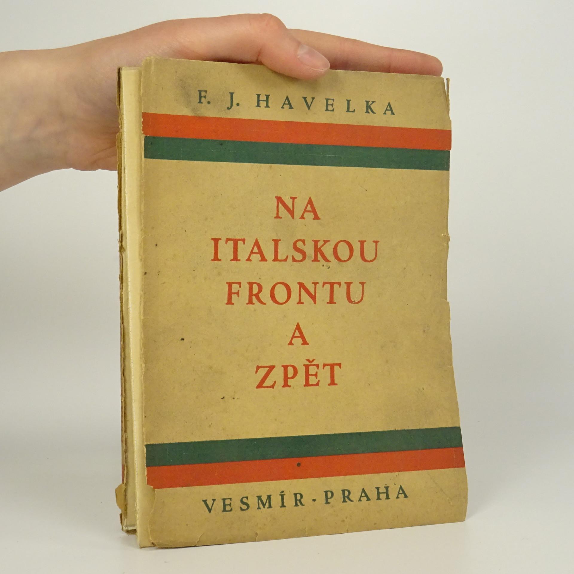 antikvární kniha Na italskou frontu a zpět, 1925