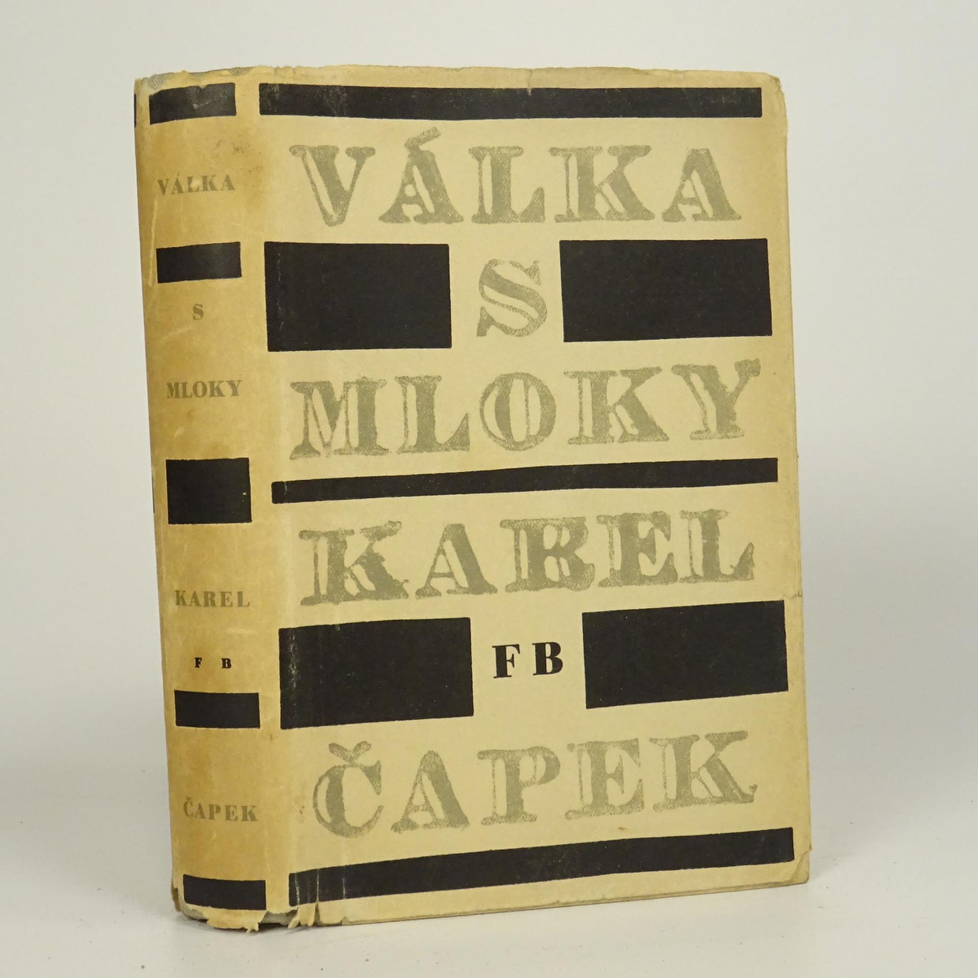 antikvární kniha Válka s mloky, 1949
