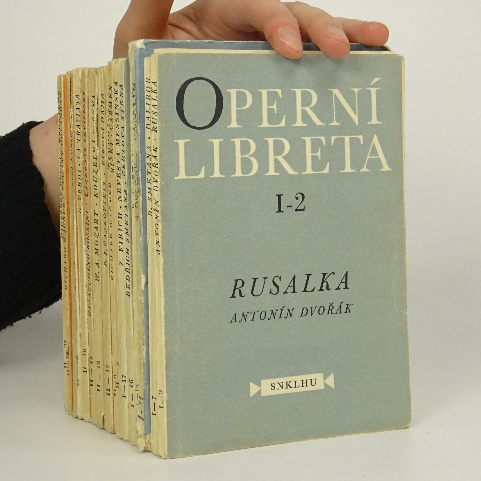 antikvární kniha 15x Operní libreta, 1958 - 1959