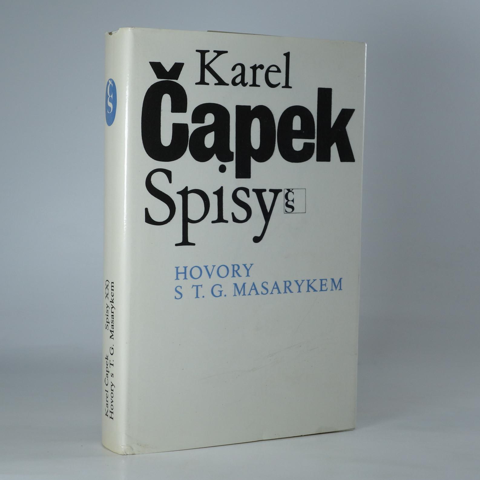 antikvární kniha Hovory s T. G. Masarykem, 1990