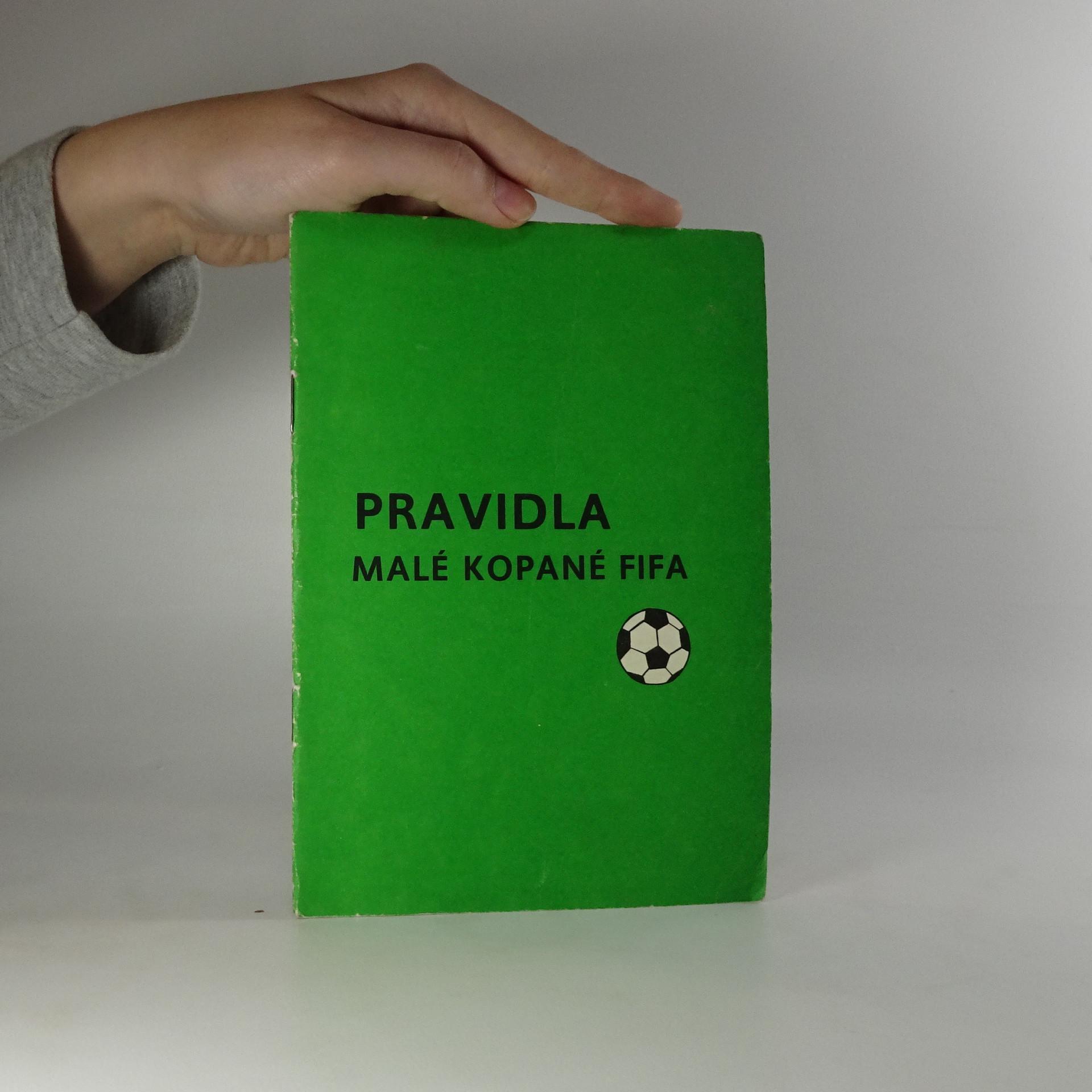 antikvární kniha Pravidla malé kopané FIFA, 1987